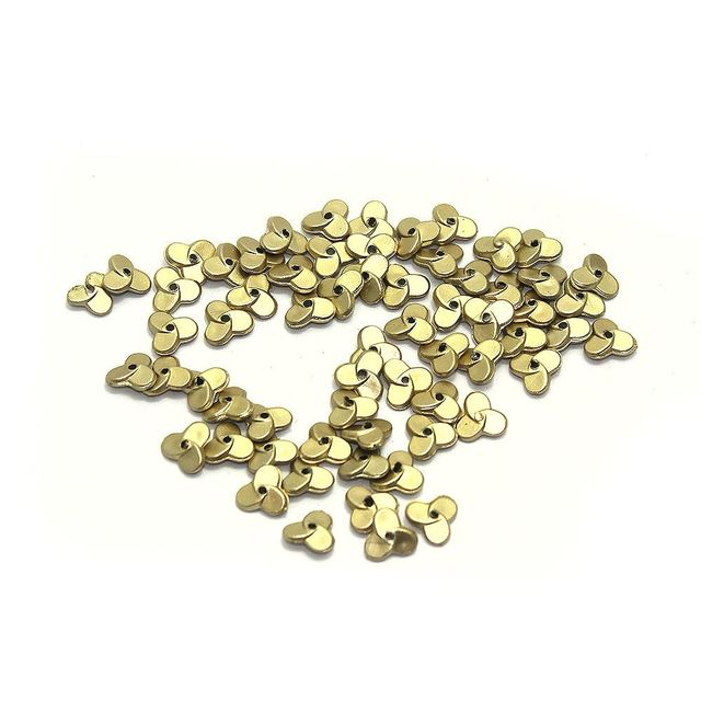 1000+ Acrylic Flower Beads Golden Finish 8mm