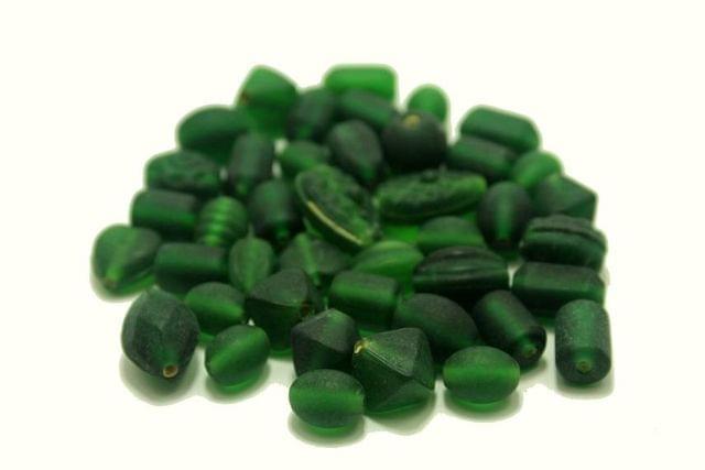 110+ Matte Beads Green Assorted 10-18mm