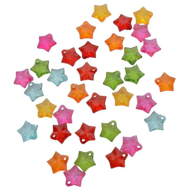 Buy 1 Get 1 Pack Free Multi-coloured Star Translucent Acrylic Beads