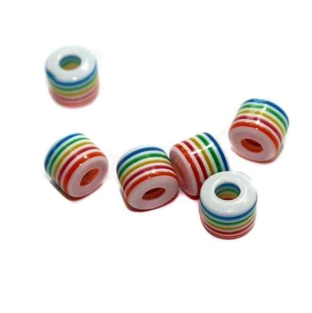 100 Acrylic Polymer Beads Tyre 10mm