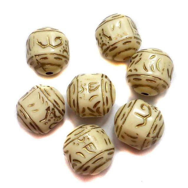 40 Acrylic Indica Beads 15x13mm