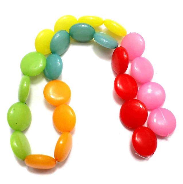 50 Acrylic Gem Beads Assorted 15 mm