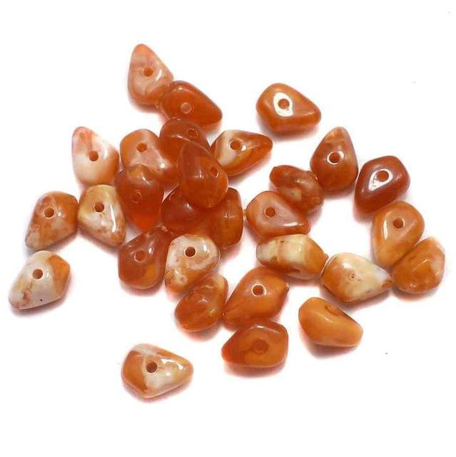 440+ Acrylic Marble Tumble Beads Orange 10x6mm