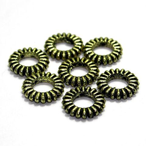 225+ Acrylic Ring Beads Golden 16mm