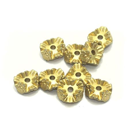 70+ Acrylic Flower Beads Golden Finish 20mm