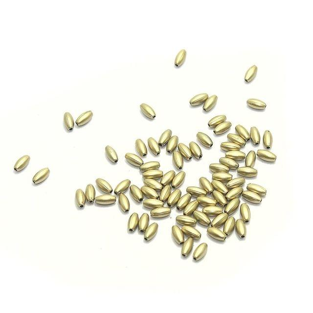 1300+ Acrylic Oval Beads Golden Finish 8x4mm
