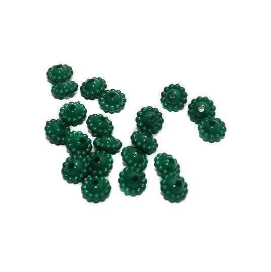 540+ Acrylic Chakri Beads Green 9x5mm