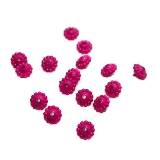 540+ Acrylic Chakri Beads Magenta 9x5mm