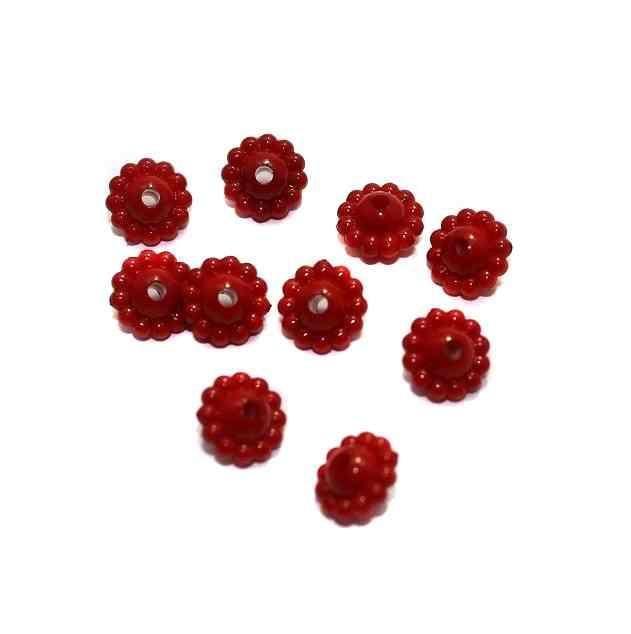 540+ Acrylic Chakri Beads Red 9x5mm