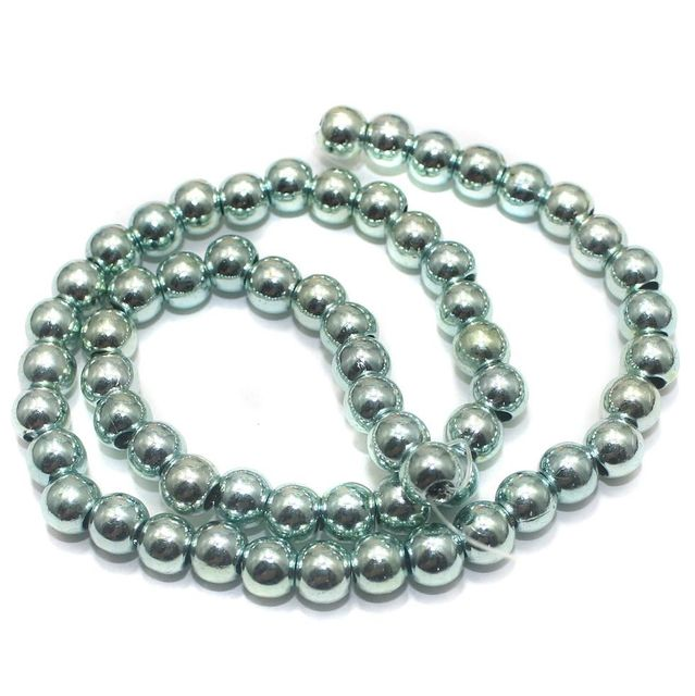 100+ Acrylic Round Beads Teal 6mm