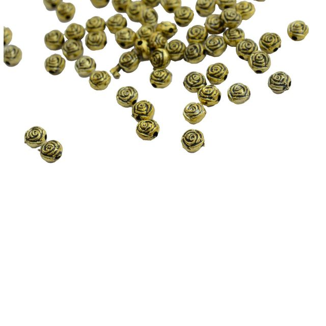 Buy 1 Get 1 Pack Free Rose engraved golden beads