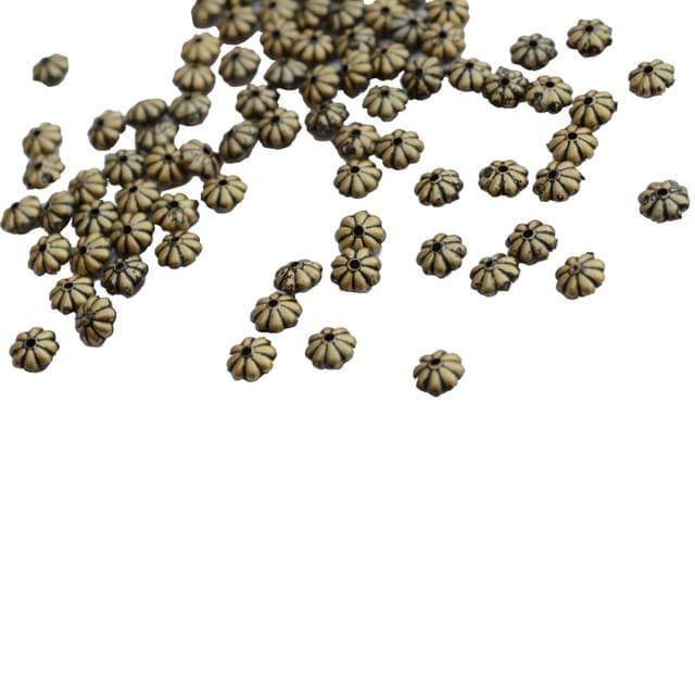 Buy 1 Get 1 Pack Free Floral Antique Golden golden beads