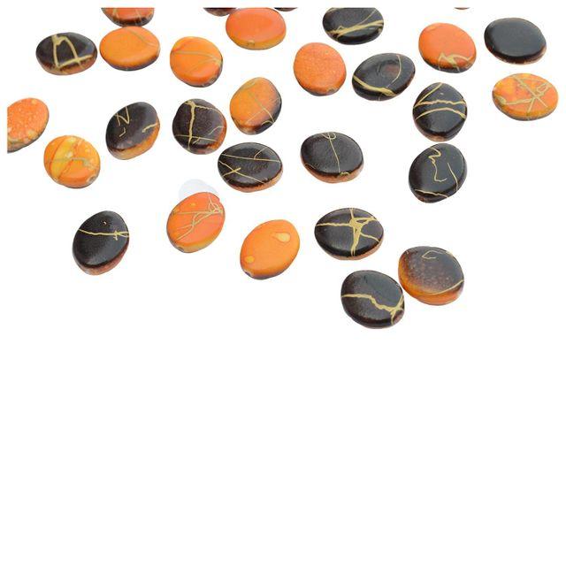 Buy 1 Get 1 Pack Free Dark Chocolate and Orange Printed Beads