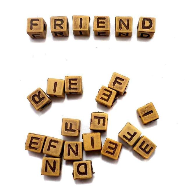 200+ Friend Alphabet Cube Beads 6mm