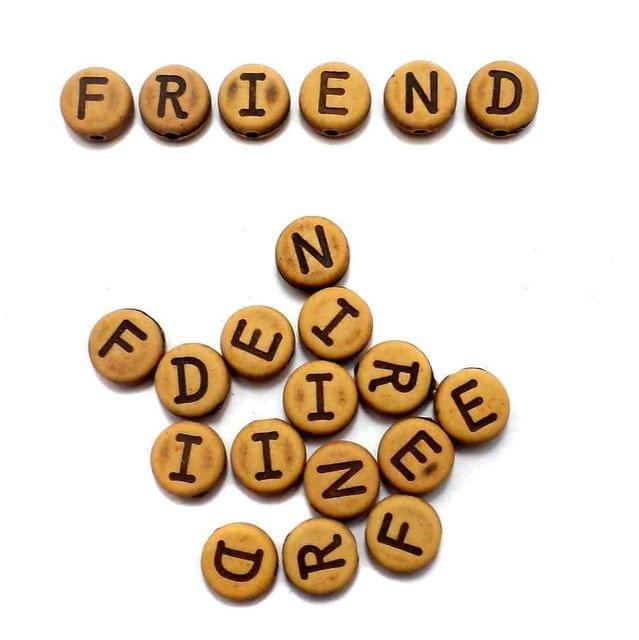 140+ Friend Alphabet Disc Beads 9mm