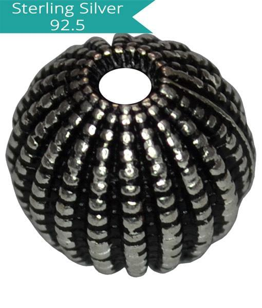 Sterling Silver 10mm Football Bead