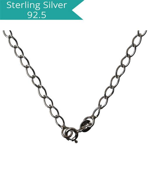 Sterling Silver Diamond Cut Chain - 40 cms