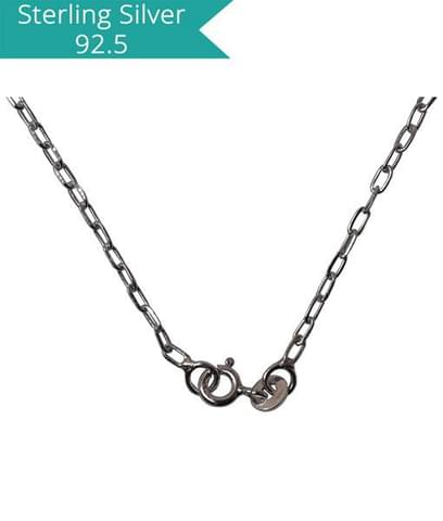 Sterling Silver Faceted Link chain - 45 cms