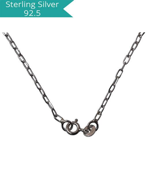 Sterling Silver Faceted Link chain -- 42 cms