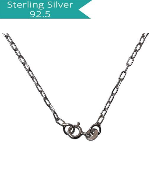 Sterling Silver Faceted Link chain - 40 cm