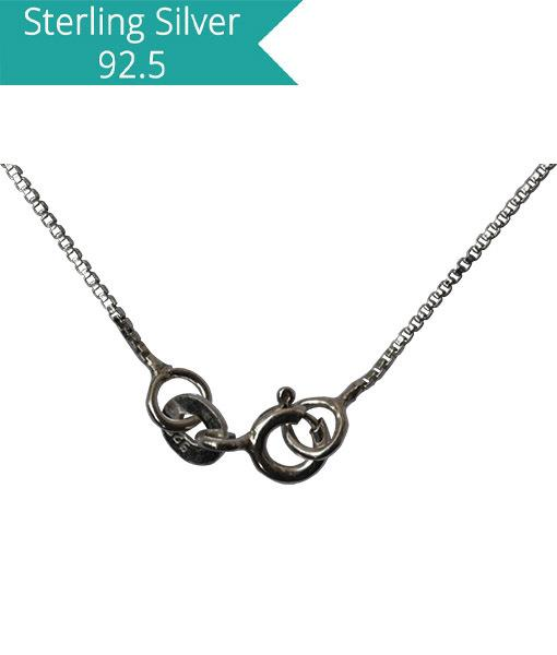 Sterling Silver Box Chain - 40 cms