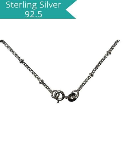 Sterling Silver Disco Chain - 40 cms