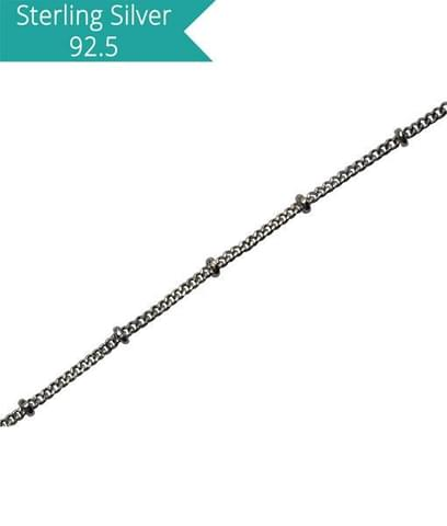 Sterling Silver Disco Chain - 100 cms