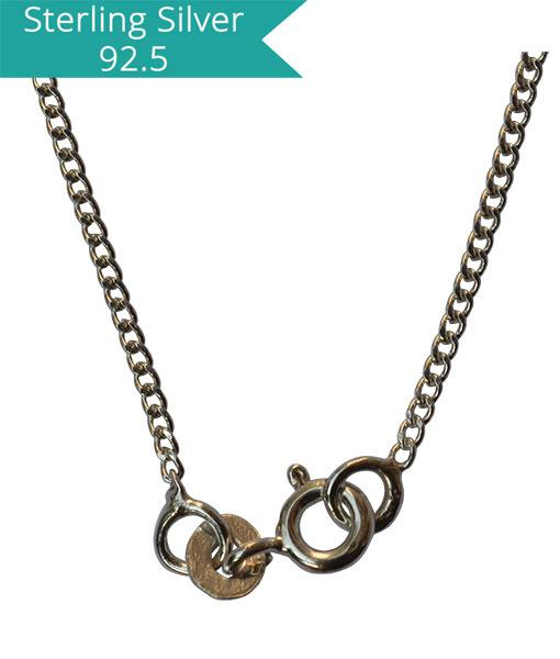 Sterling Silver Curb Chain - 45 cms