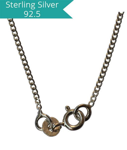 Sterling Silver Curb Chain - 40 cms