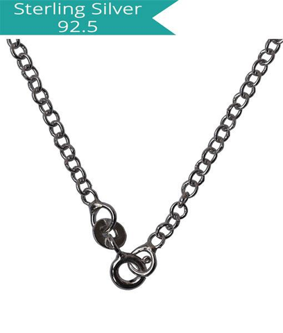 Sterling Silver Round Link Chain - 45 cms