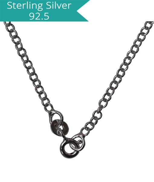 Sterling Silver Round Link Chain - 40 cms