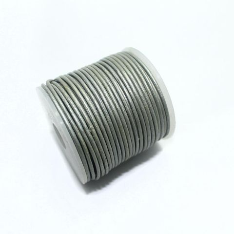 Leather Cord 1 mm Steel Grey