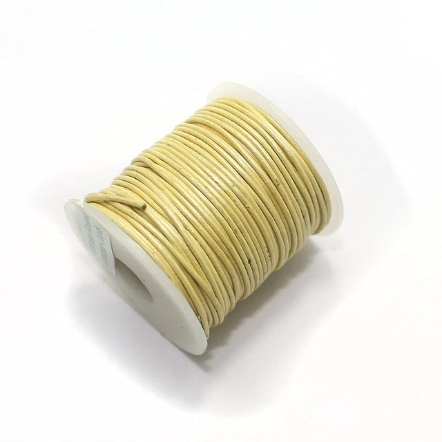 Leather Cord 2 mm Light Yellow