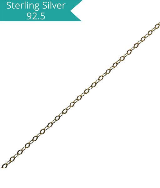 Fine Flat Link Chain - 100 cms