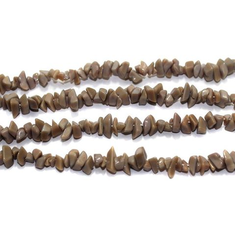 220+ Glass Uncut Beads Beige Green 5-8mm