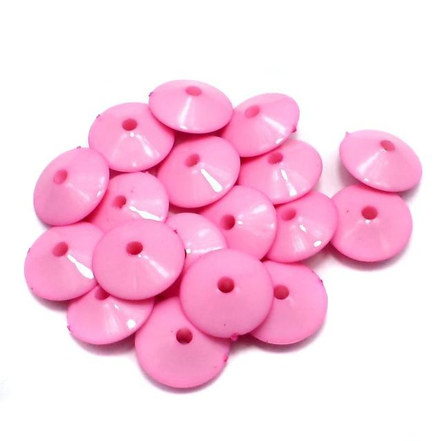 100 Neon RONDELLE Beads Pink 8x15mm