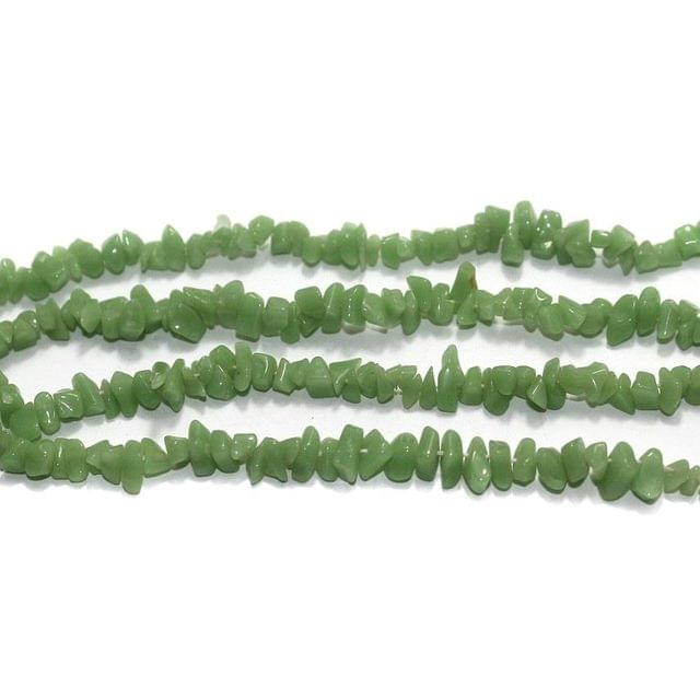220+ Glass Chips Green 5-8mm