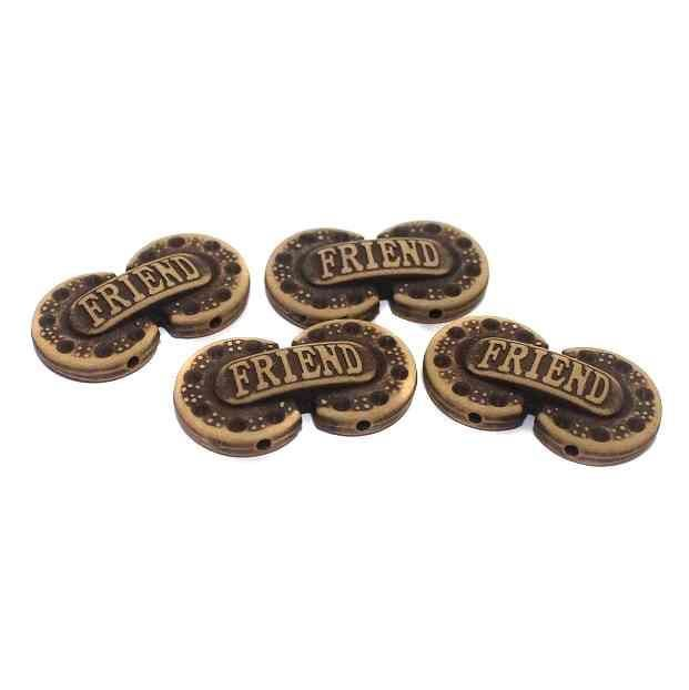 100 Friend Alphabet Beads 29x15mm