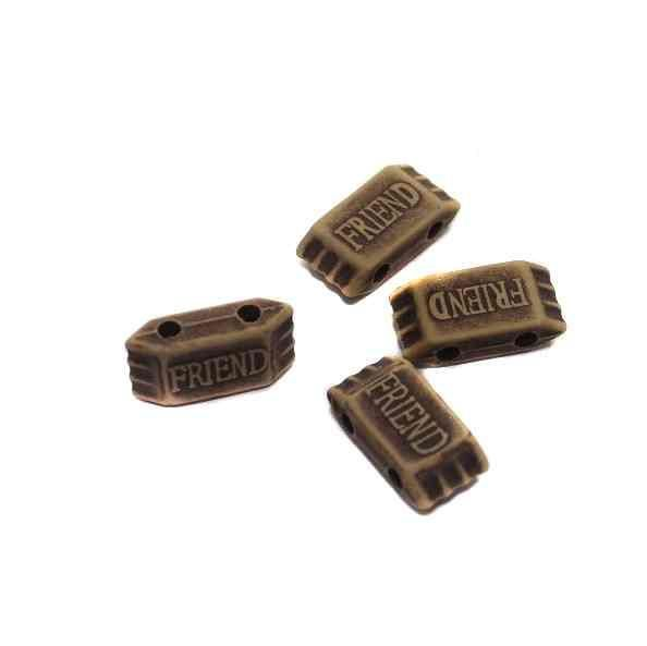 100 Friend Alphabet Beads 23x10mm