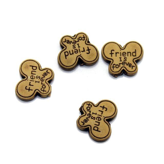 100 Friend Alphabet Beads 15x18mm