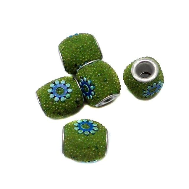 10 Pcs. Lac Tyre Beads Peridot 12mm