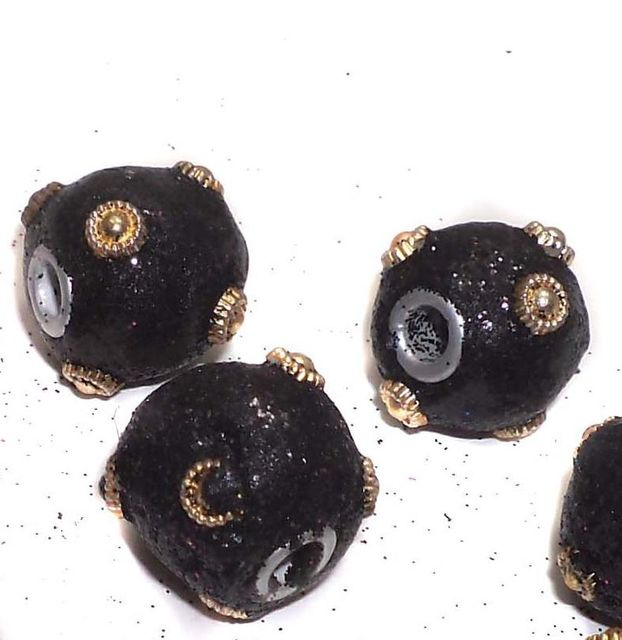 20 Pcs. Lac RONDELLE Beads Black 16mm