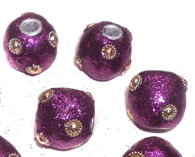 20 Pcs. Lac RONDELLE Beads Purple 16mm