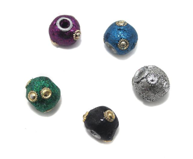 20 Pcs. Lac Beads Assorted 14mm