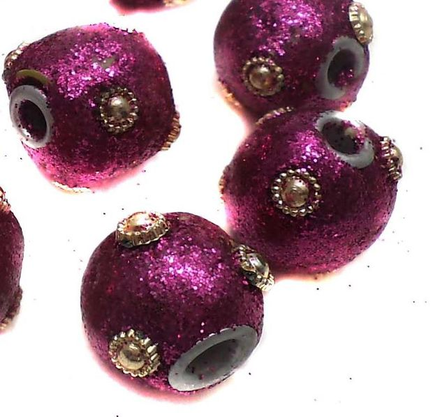 20 Pcs. Lac RONDELLE Beads Magenta 16mm