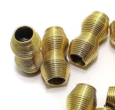 50 Metal Golden Spring Beads 25x10mm