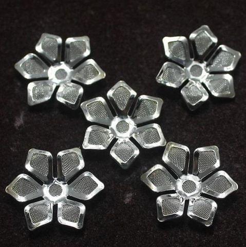 20 pcs of Flower Metal Beads