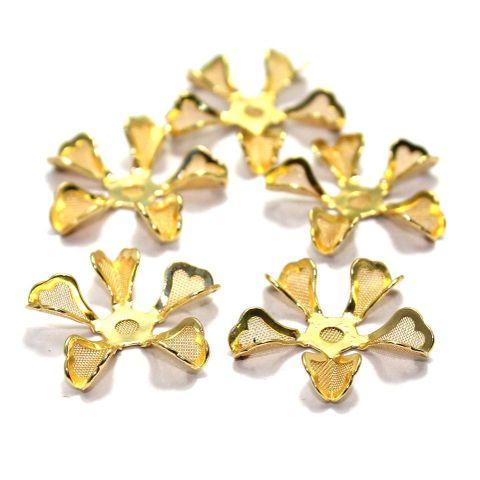 28 Flower Metal Beads