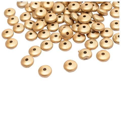 Buy 1 Get 1 FreeFoppish Mart Golden Circular Flat Beads