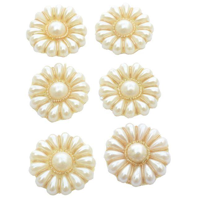 Buy 1 Get 1 Pack Free Floral Pearl Golden Buti / Motifs